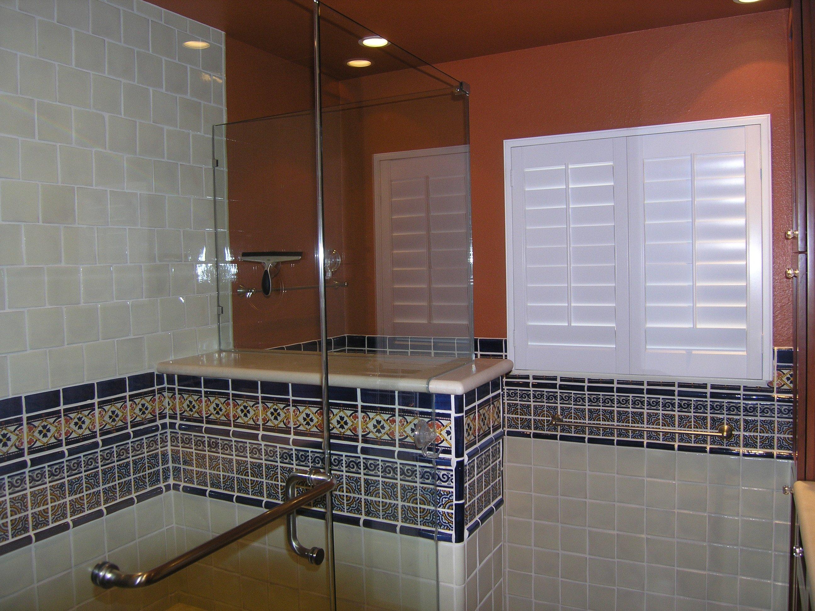 Mexican Tile Border Shower Area Mexican Home Decor