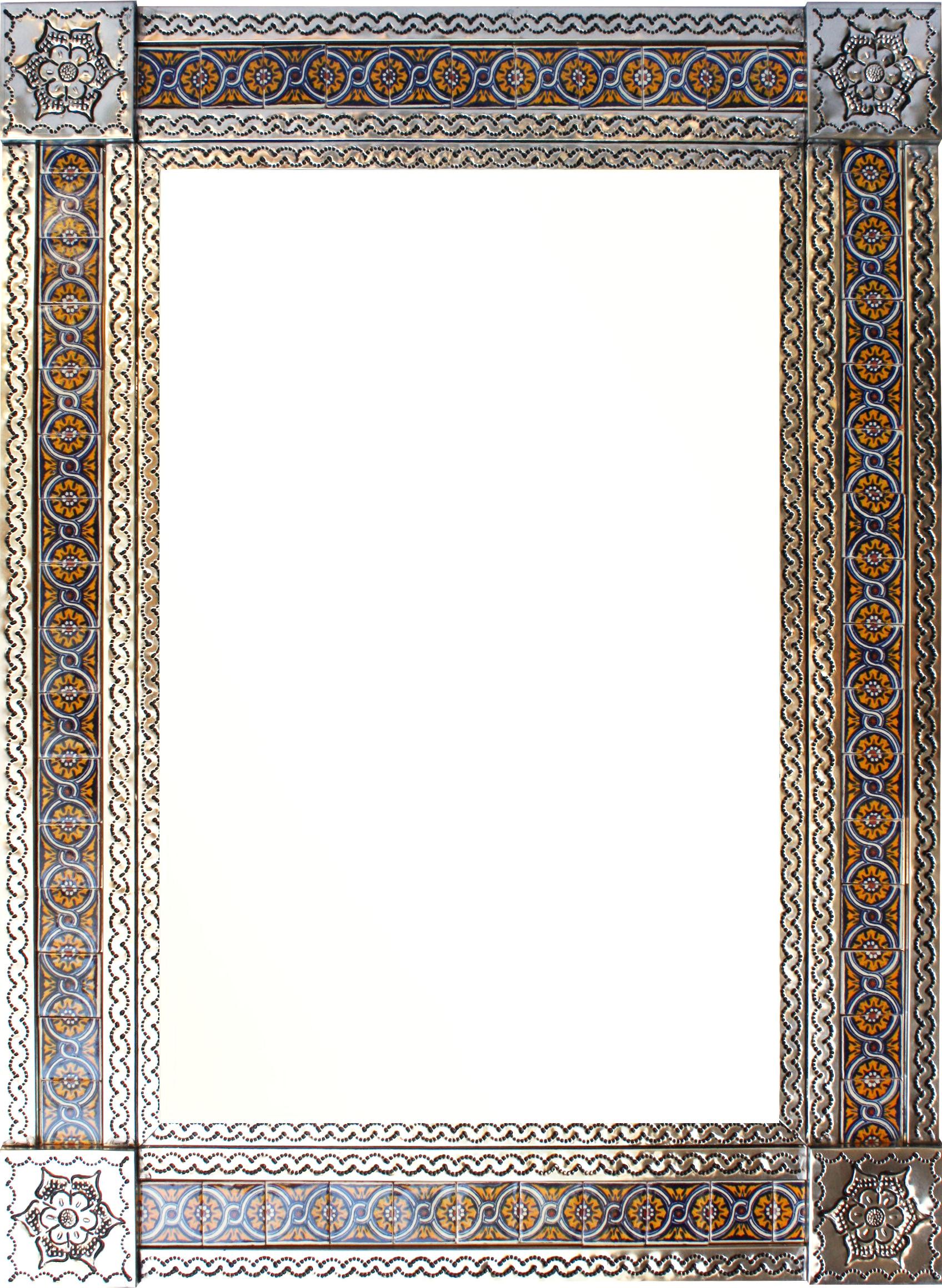 large silver chain talavera tile