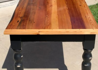 Antique Pine Farm Table by Logan Spivey