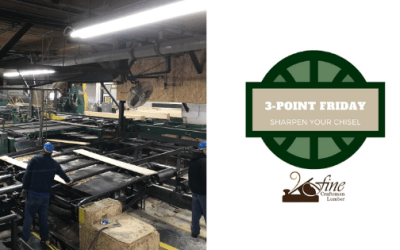 Sharpen Your Chisel: 3-Point Friday 5/8/2020
