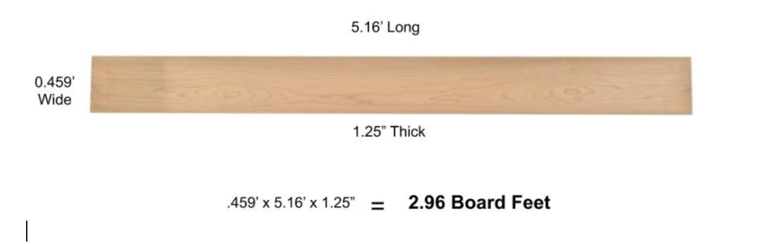 Board foot calculation method 3