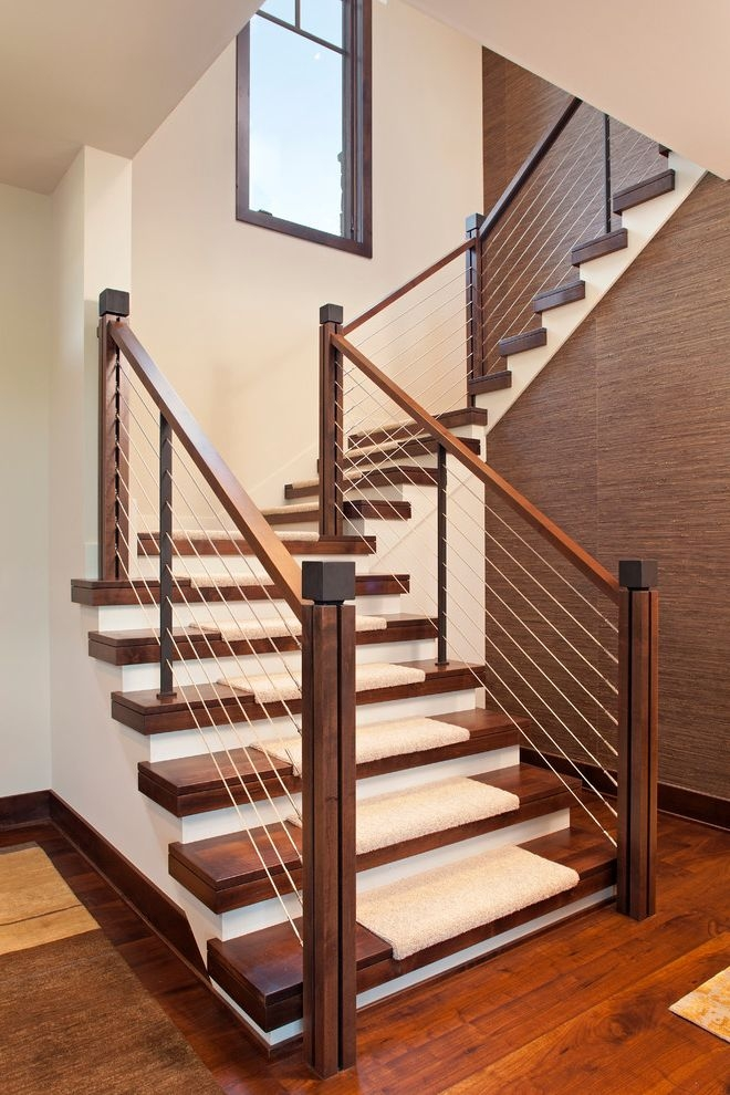 How Much Does It Cost To Carpet Stairs For Contemporary Staircase | Cost To Have Stairs Carpeted | Wood | Stair Tread | Hardwood Flooring | Tile | Installation
