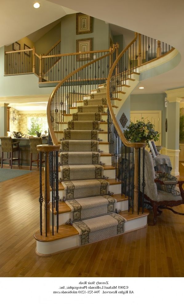 How Much Does It Cost To Carpet Stairs With Traditional Staircase   Wooden Floor And Carpet On Stairs   Carpet Runner   Downstairs   Middle Stair   Popular   Wood Riser
