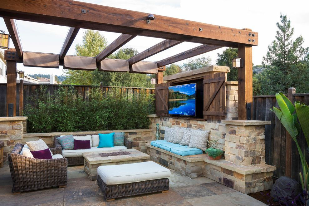 Outdoor Tv Cabinet Plans With Traditional Patio Also Entertainment Center Fire Pit Indoor