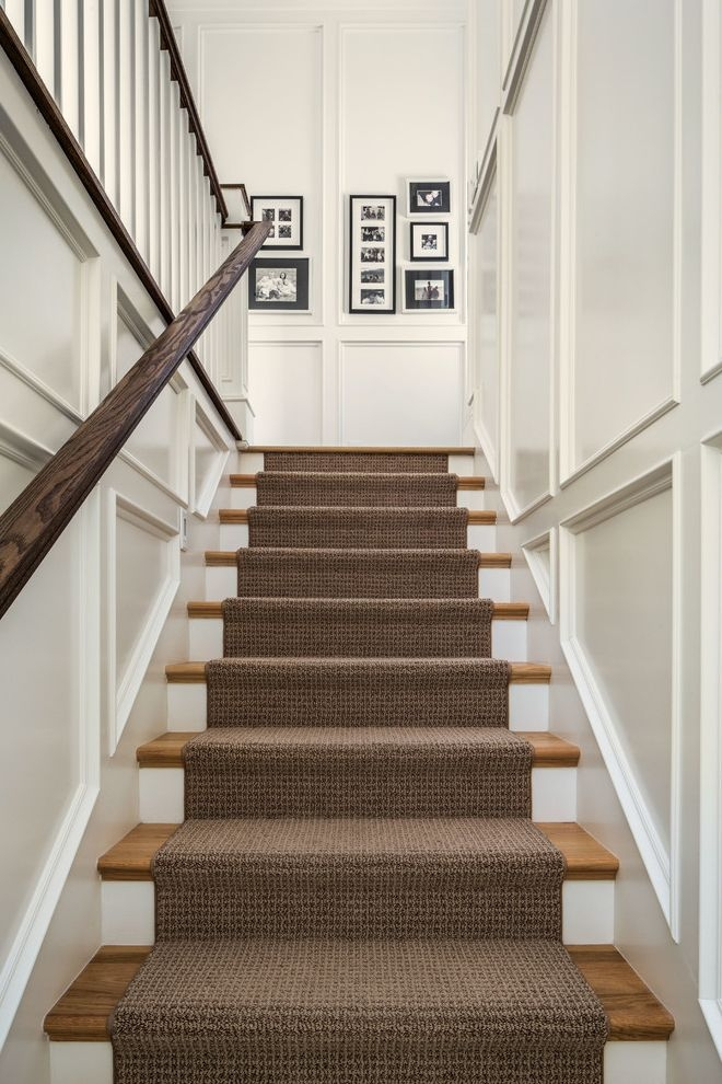 Shaw Carpet Reviews With Traditional Staircase And Black And White   Black And White Carpet Stairs   Victorian   Striped   Geometric   Low Cost Simple   Unusual