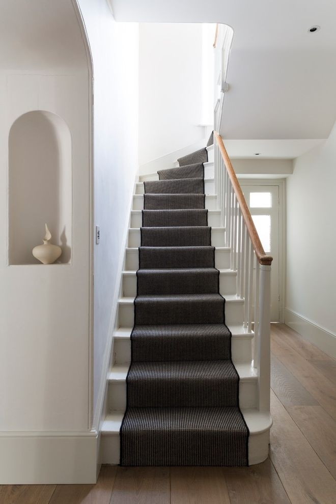 Replacing Carpet On Stairs With Contemporary Staircase And Clean   Modern Carpet Runners For Stairs   Step Sculptured Color   Pinterest   Curved   Light Grey   Victorian