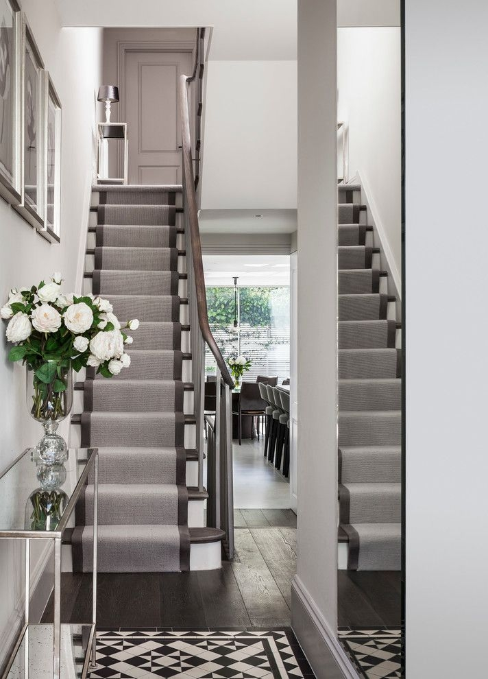 Replacing Carpet On Stairs With Contemporary Staircase And   Contemporary Carpets For Stairs   Green   Trendy   Stylish   Stair Runner   Victorian