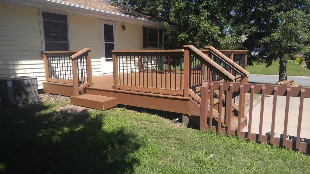 Lowes Bloomington In Traditional Deck Also Aluminum Baluster | Handrails For Concrete Steps Lowes | Vinyl | Double Wide | Portable | Century Concrete | Interior