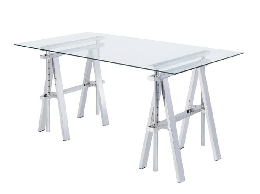 Adjustable Writing Desk With Sawhorse Legs