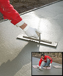 how to finish a concrete patio slab
