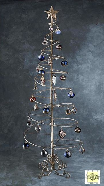 Ornament Trees Spiral Wire Ornament Tree 6 Foot