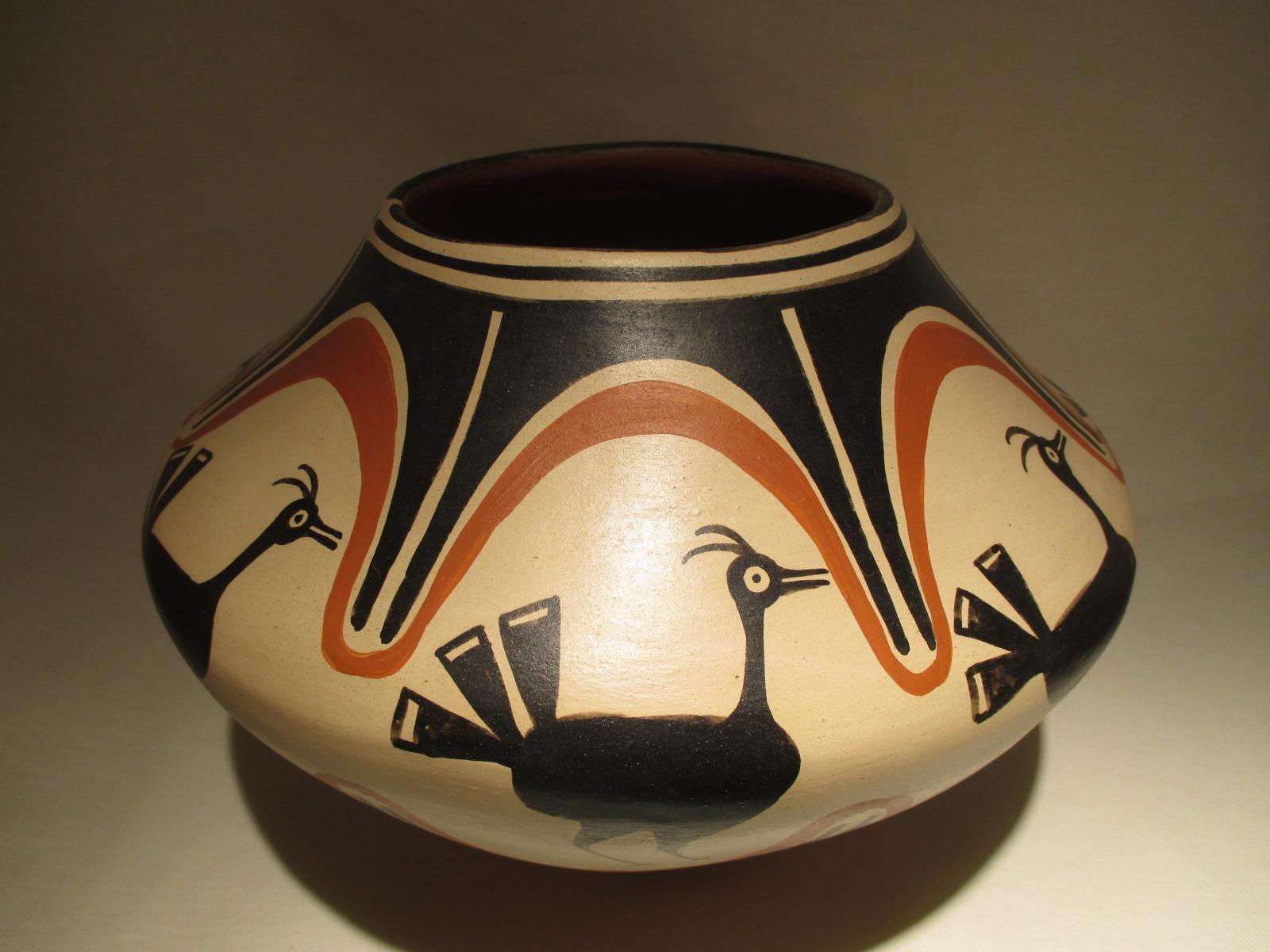 Pt Santo Domingo Pottery By Native American Santo