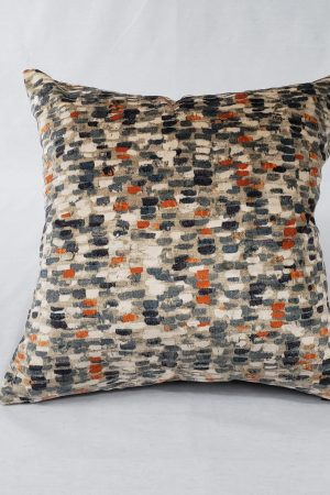 Multicolor abstract velvet cushion