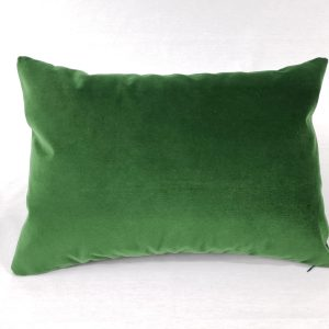 A green velvet cushion
