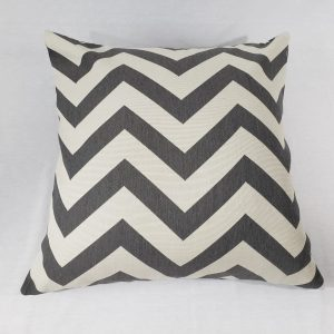 Grey & white chevron cushion