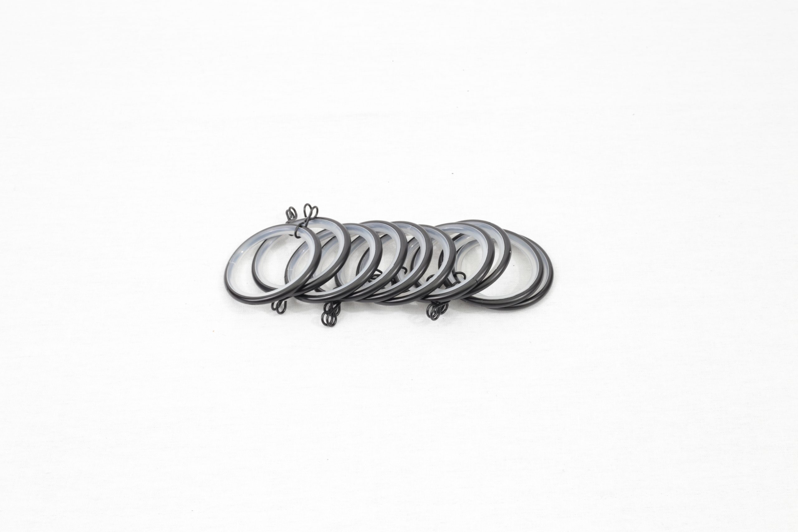 Black drapery rod rings