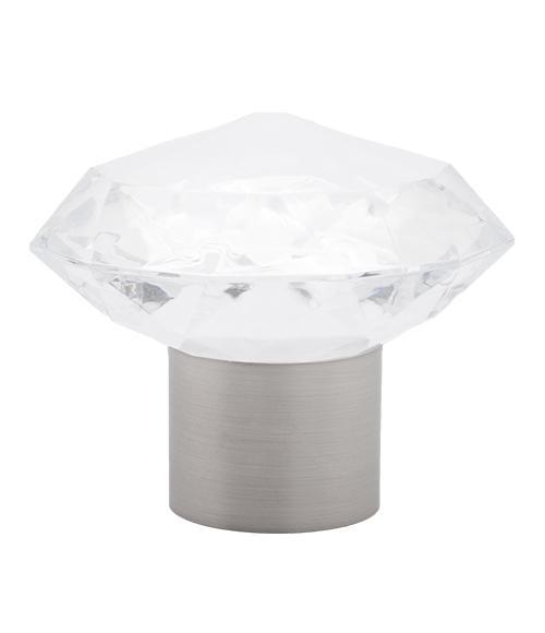 Satin nickel acrylic gem finial