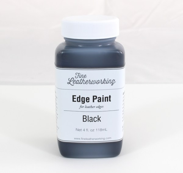 Leather Edge Paint: Black