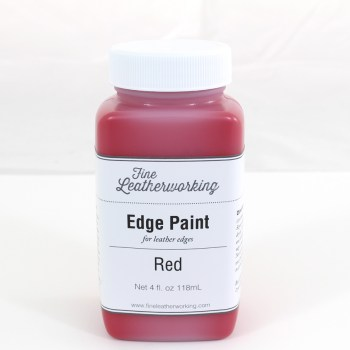 Leather Edge Paint: Red