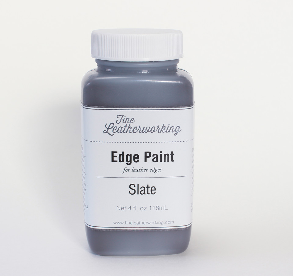 Leather Edge Paint: Slate