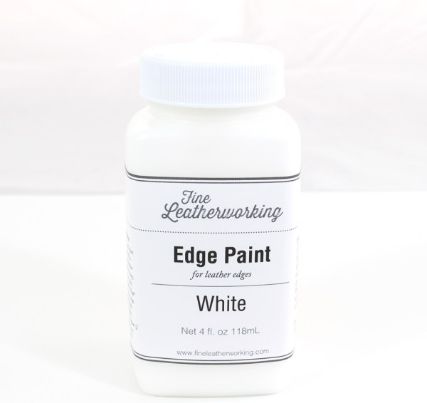 Leather Edge Paint: White