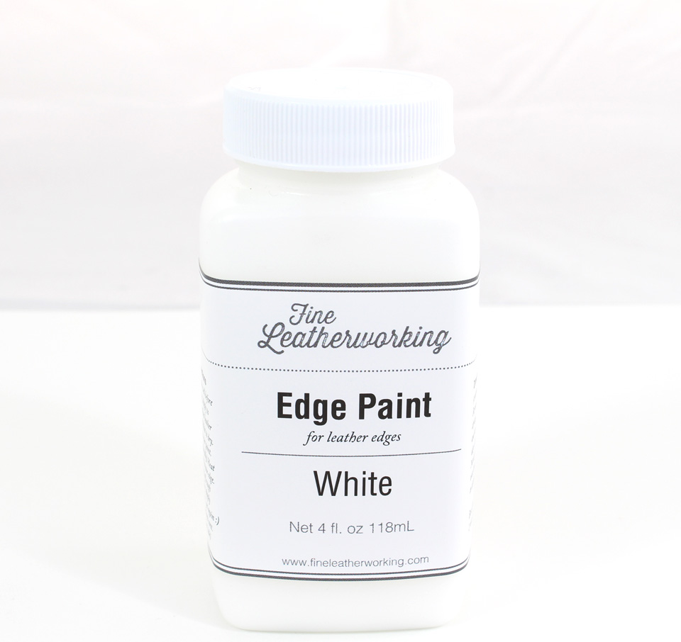 Leather Edge Paint: White