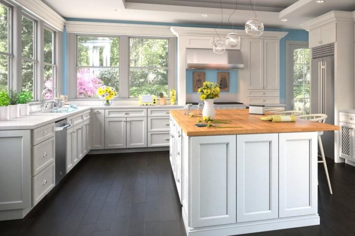 Fine line kitchen designs installs Forevermark Uptown White