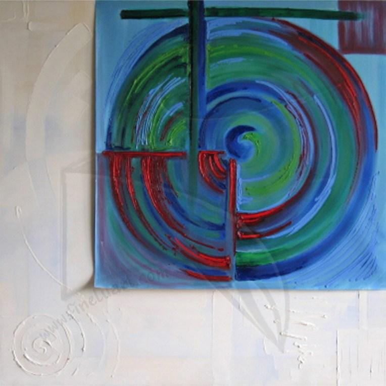 Пластове от монолит ІV - маслена живопис в студената гама