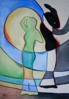 Картини живопис - Силуети 4 - От тъмната страна на слънцето