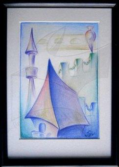 Спомени за летен дъх - живопис с акварел