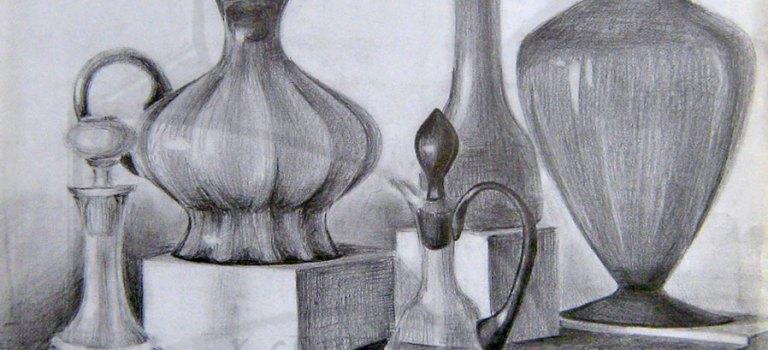 Как да нарисувам етюд с черен молив?