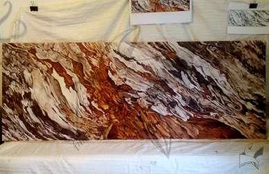 Кора от дърво - масло върху платно