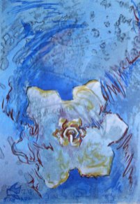 Снежен валс - живопис, смесена техника