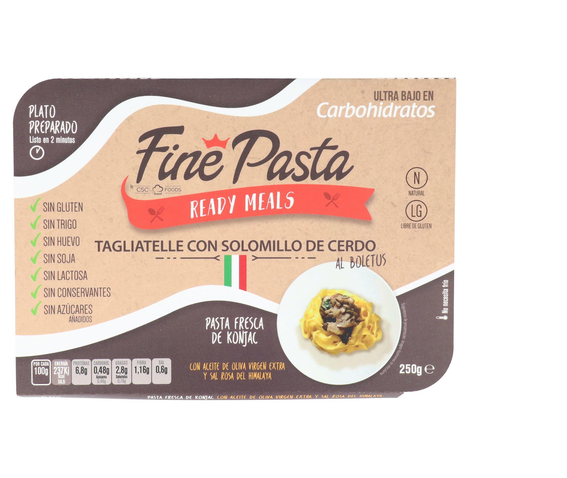 Tagliatelle con Solomillo de Cerdo Fine Pasta