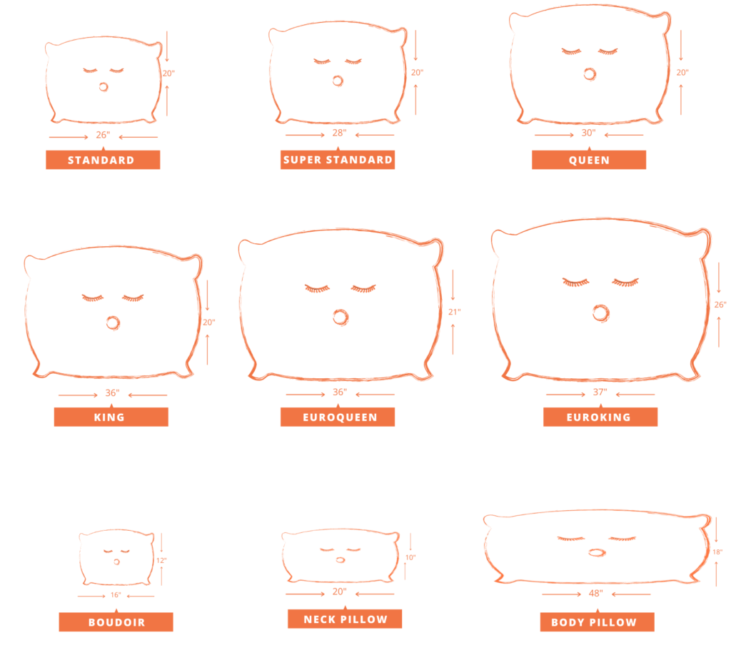 bed pillow sizes and dimensions guide