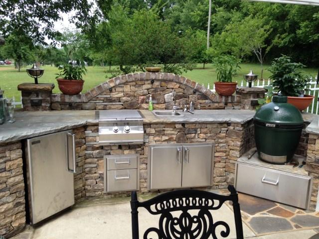 big green egg outdoor kitchen | fine's gas blog