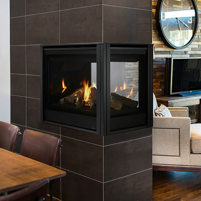 Pearl Ii Peninsula Direct Vent Fireplace By Majestic
