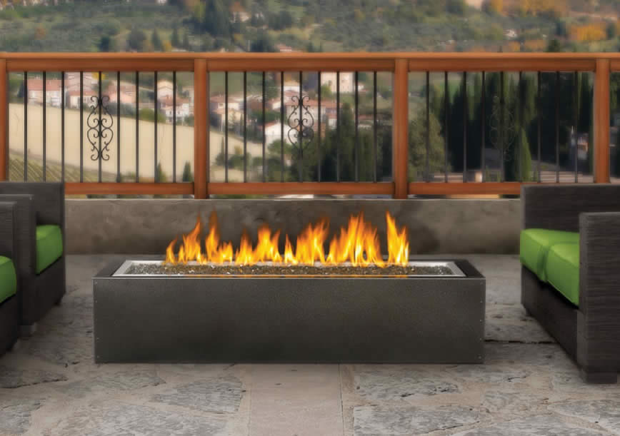 PatioFlame Linear Fire Pit Gas Outdoor Fire Pit Fines Gas