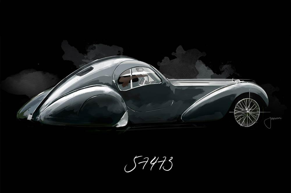 Bugatti Type 57 SC Atlantic Holzschuh