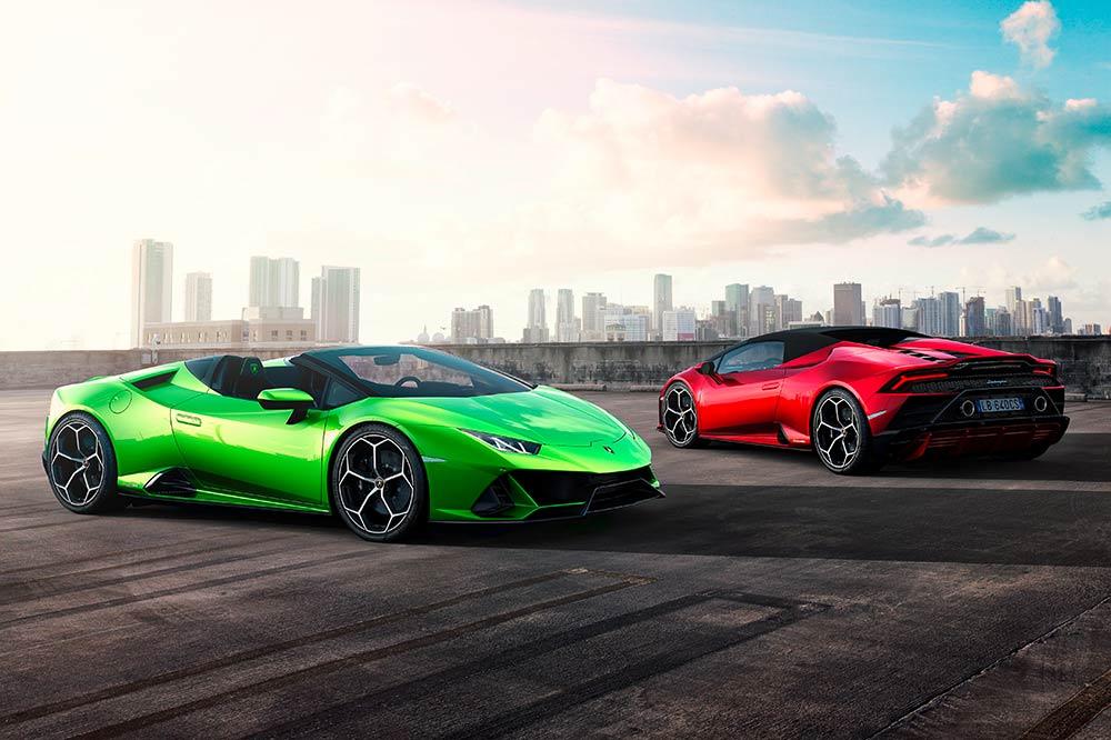Lamborghini Huracan Evo Spyder - offen und geschlossen