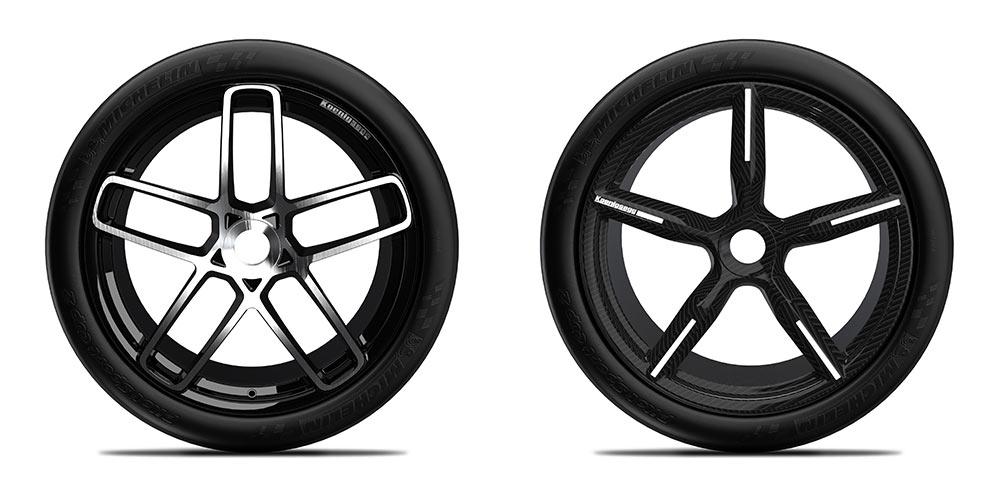 Räder Alu und Carbon
