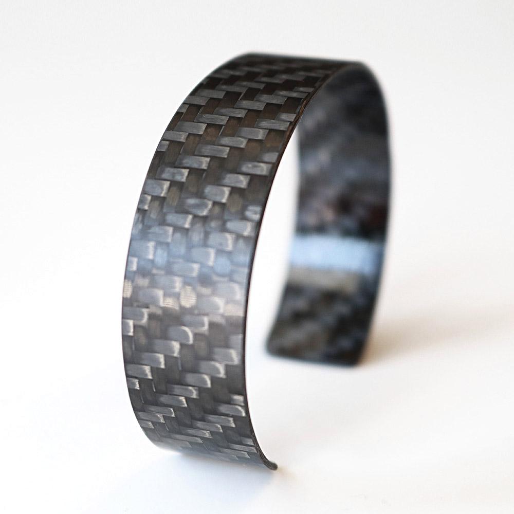 Carbonarmband matt