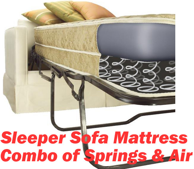 Queen Extra Long Size Sofa Bed Mattress Replacement Air And Springs Dream Brand