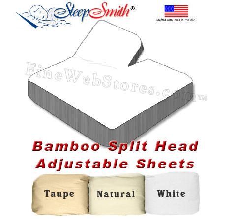Bamboo Split Head Adjule California King Bed Sheets 300 Thread Count