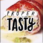 Bacon-Wrapped, Guacamole-Stuffed Chicken - Proper Tasty (Youtube)
