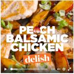 peach balsamic chicken image