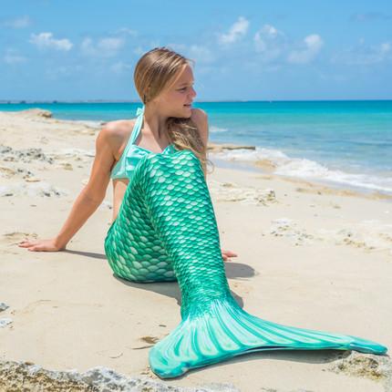 New Celtic Green Mermaid Tail FinFriends