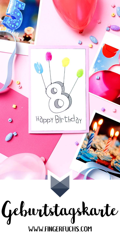 Geburtstagskarte basteln Kinder Pinterest