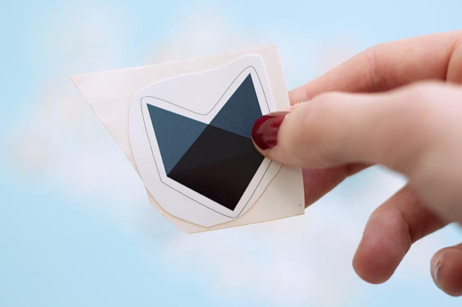 Fingerfuchs Sticker selber machen