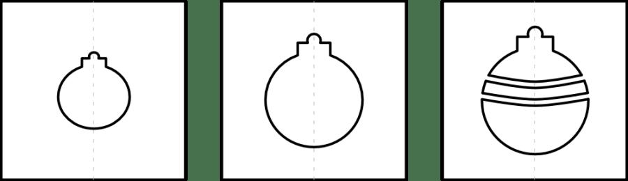 Ornamente Schablone Kalender 2018 zum Fingerstempeln